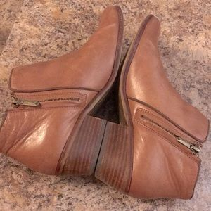 Sam Edelman Petty Round Toe Leather Ankle Boots